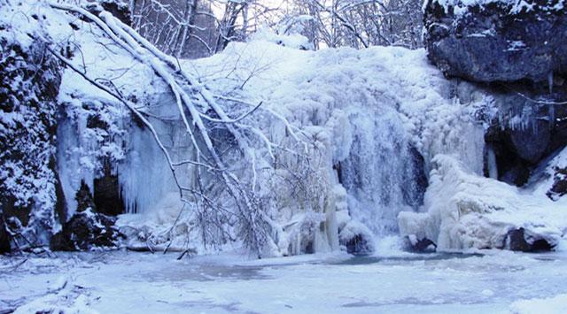 Картинки по запросу водопады руфабго зимой