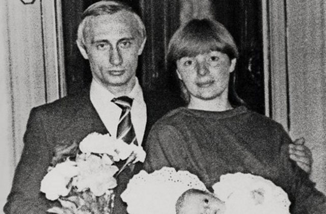 Владимир Путин и Людмила Шкребнева в молодости